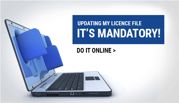 Updating my licence file it's mandatory!  Do it online.