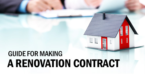 Guide for making a renovation contract.