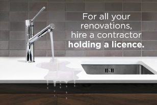 For all your renovations, hire a contractor holding licence.